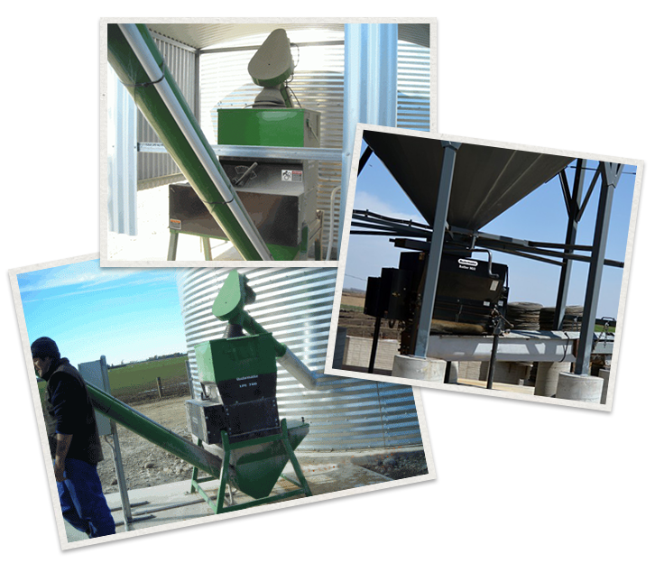three separate images of Automatic Roller Mill Machinery being used
