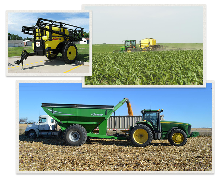 three separate images of Demco Products being used
