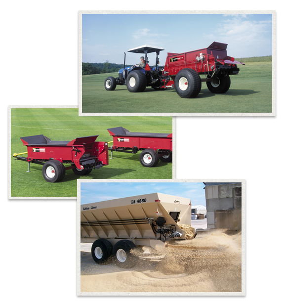 three separate images of Millcreek products being used