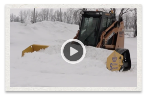 video of the proper operation of the snow pusher